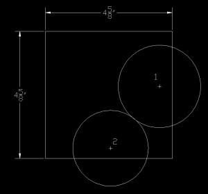 Illustration of the circle drawn at point 2