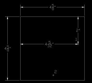 Illustration showing point 1 on the shelf brace