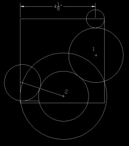 Illustration showing the last circle at the top of the brace