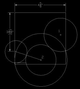 Illustration showing small circle