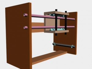 Y-axis gantry with the Z-axis installed